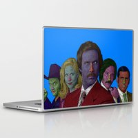 anchorman Laptop & iPad Skins featuring Anchorman by CultureCloth