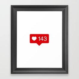 143 Likes Framed Art Print