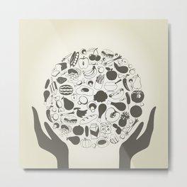 Hand food2 Metal Print