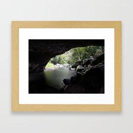 Cave Stream Framed Art Print