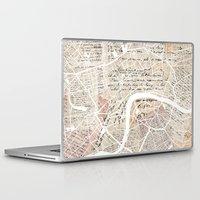 london map Laptop & iPad Skins featuring London map by Mapsland