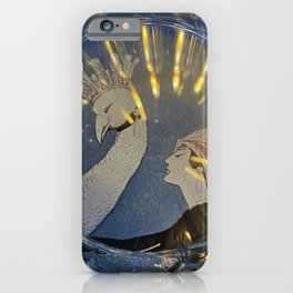 Lady and Peacock iPhone Case