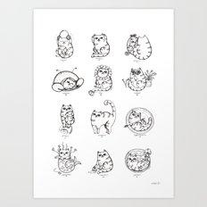 Zodiacats Art Print