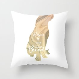 Dog Rescue Gift Animal Shelter Awareness Throw Pillow