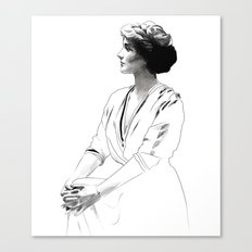 Coco - illustration of the young fashion icon Canvas Print