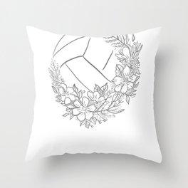 Live Like Line shirt volleyball shirt women girls Throw Pillow
