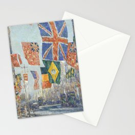 Avenue of the Allies, Great Britain, 1918 by Childe Hassam Stationery Cards