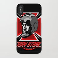 tony stark iPhone & iPod Cases featuring Tony Stark by Ant Atomic