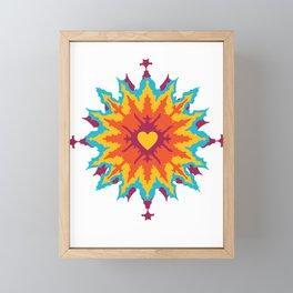 Dye Heart Framed Mini Art Print