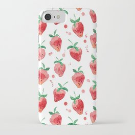 Strawberries Pow iPhone Case
