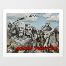 Kher Ridges Art Print
