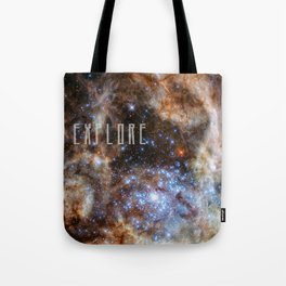 Explore - Monster Stars Tote Bag