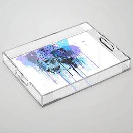 Snow leopard Acrylic Tray