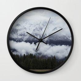 Pemberton glacier Wall Clock