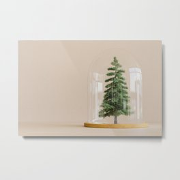 Tree under glass dome Metal Print