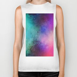 Mystical azure galaxy Biker Tank