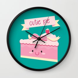 Cute pie Wall Clock