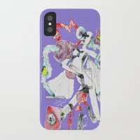three of the possessed iPhone & iPod Cases featuring ONLY POSSESSED GIRLS DIDDLE by Kira Leigh