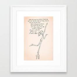 You Can Reach it... Framed Art Print