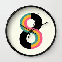 infinity Wall Clocks featuring Infinity by Andy Westface