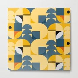 Summer - Geometric Pattern Metal Print