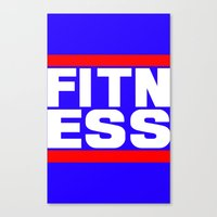 fitness Canvas Prints featuring Fitness by anto harjo