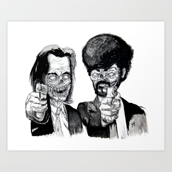 Zombie Fiction Art Print