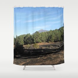 el Teide - Tenerifa Shower Curtain
