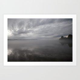 Stormy Skies over Cayuga Art Print