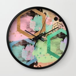 fun with collage and colors Wall Clock