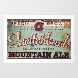 Vermont Brewers Series Switchback Art Print