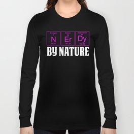 WOMENS Teachers Assistant Design NERDY BY NATURE Long Sleeve T-shirt