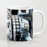gundam Mugs featuring Robotech by Danielle Tanimura