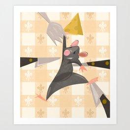 """Ratatouille Knives"" by Meghann O'Hara Art Print"