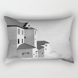 Castle in the Sky | Black & White Rectangular Pillow