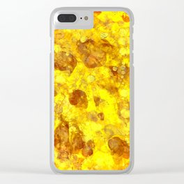 Gold Smudges Clear iPhone Case
