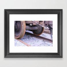 Wheels on the Track Framed Art Print