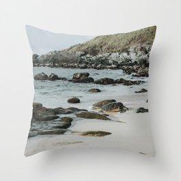 Honu // Sea Turtles on the Beach in Paia, Maui Throw Pillow