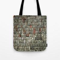 letters Tote Bags featuring Letters by Sébastien BOUVIER
