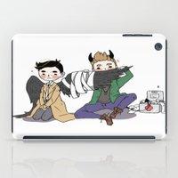 destiel iPad Cases featuring Holy Hell Destiel - SPN by venuscas
