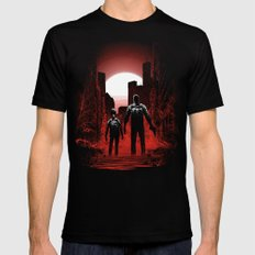 Quarantine: Joel and Ellie Mens Fitted Tee Black LARGE