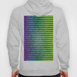 Abstract Color Stripes Hoody