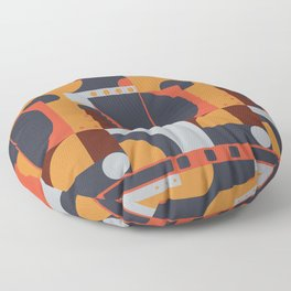 Geometric Pattern (hot and cold) Floor Pillow