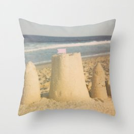 Sand Castle Summer Throw Pillow