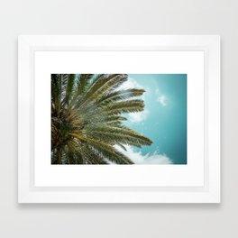 Under the palm tree Framed Art Print
