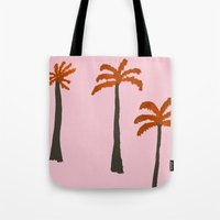 palms Tote Bags featuring Palms by Georgiana Paraschiv