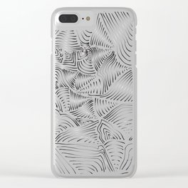 LINES BW Clear iPhone Case