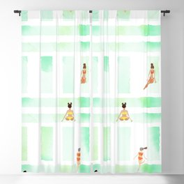 Beach Towel Bingo Blackout Curtain