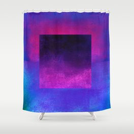 Square Composition VIII Shower Curtain