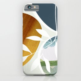Abstract in blue green tones iPhone Case